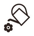 watering can and flower symbol vector image