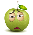 sad apple smiley vector image vector image