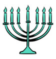 menorah icon cartoon vector image