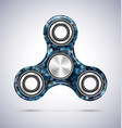 spinner blue mosaic design vector image vector image