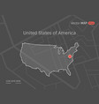 dotted usa map vector image