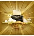 Typewriter old style background vector image
