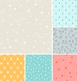 Stardust seamless patterns collection vector image