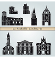 La Rochelle landmarks and monuments vector image