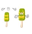 Happy colorful frozen ice cream lollipop vector image vector image