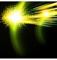 abstract green disco background vector image vector image