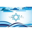 abstract israel flag as sea and blue sky vector image