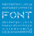 Circles Font of different sizes alphabet and vector image