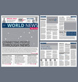 different articles in newspaper design vector image
