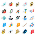 excellence icons set isometric style vector image