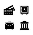 financical simple related icons vector image