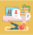 pilates and lifestyle concept vector image