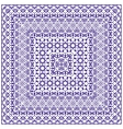 Square blue pattern on a white background vector image