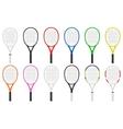 tennis rackets set vector image
