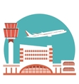 The of Airport Terminal vector image
