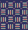 vibrant seamless pattern with pencils in memphis vector image