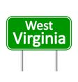 West Virginia green road sign vector image