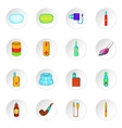 Electronic cigarette icons cartoon style vector image