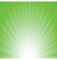 green rays background vector image