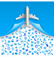 travel icons services vector image vector image
