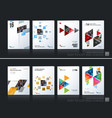 abstract business template brochure layout vector image