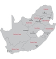 South Africa map vector image