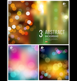 Abstract bokeh three collections background vector image vector image