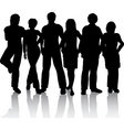 young people vector image