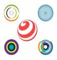 Set of Abstract Colorful Circles vector image vector image