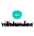 People concert crowd vector image