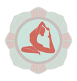 Woman yoga vector image