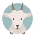 Animal set Portrait in flat graphics - Goat vector image