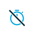 chronometer icon colored symbol premium quality vector image