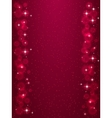 Frame with stars on the dark red background vector image