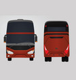 front and rear side of red bus vector image