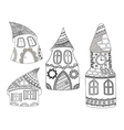 Houses pattern vector image