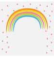 Rainbow and pink heart rain Flat design style vector image