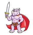 rhino with a sword vector image