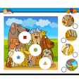 match pieces activity with dogs vector image