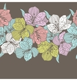 Abstract vintage seamless flower pattern with vector image vector image