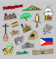 philippines travel set with architecture vector image