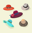 hats set fashion for men and women style vector image