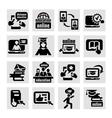online education icons vector image vector image