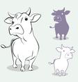 cow 3 vector image