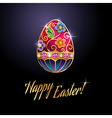 Easter egg red vector image vector image