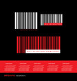 barcodes numbers scanning price vector image