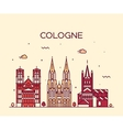 Cologne skyline linear style vector image