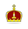crown with jewels vector image