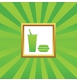Fast food picture icon vector image