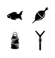 fishing simple related icons vector image